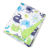 2017 Customized Cartoon Thick Sherpe Fleece Baby Blanket for Bed