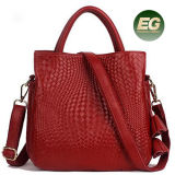 Sacchetto di spalla popolare delle donne della borsa del cuoio genuino delle signore del fornitore della fabbrica della Cina con le nappe Emg5124