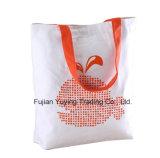 Saco de Tote 100% orgânico relativo à promoção personalizado do algodão