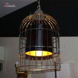 Светильник промышленного металла конструкции Birdcage привесной с отделкой чернением