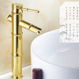 Flg Gold Painting Bamboo Design Basin Bath Taps