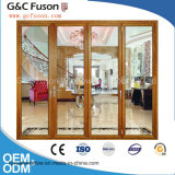 Двери складчатости алюминиевого двойника балкона стеклянные внешние