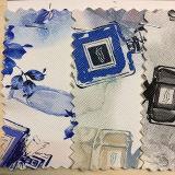 Couro artificial do falso do teste padrão colorido da impressão do projeto para sapatas, sacos, vestuário, decoração (HS-Y23)