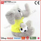 Éléphant bourré mol de peluche de jouet de promotion pour des gosses