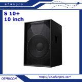 Scegliere 10 pollici casella Subwoofer (S 10+) dell'altoparlante professionale da 8 Ohm PRO audio