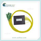 1: Divisor óptico de fibra 8 con los conectores del Sc, FTTH Rack/ODF compatible