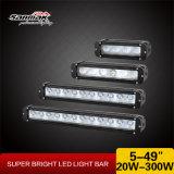 アルミニウム黒い耐震性8inch 12volt 40W LEDの点のライトバー
