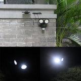 22 lumière extérieure actionnée solaire de jardin de lampe de détecteur de mouvement de DEL PIR