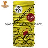 安いカスタム低いMOQデジタルの印刷の黄色のバンダナ