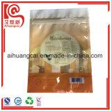 Bolso Ziplock plástico modificado para requisitos particulares de la insignia de la marca de fábrica para los gérmenes