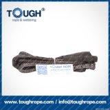 Fibra 100% resistente de Uhwmpe da corda da corda sintética cinzenta do guincho da cor 8.5mmx28m4X4