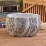 楕円形の容器の大理石のセメントの蝋燭の瓶