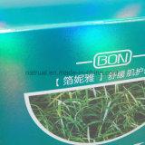 Rectángulo de papel lleno del acondicionamiento de los alimentos del sellado de oro de la impresión en color para los regalos
