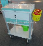 AG-Mt033 El mejor vendiendo el tratamiento médico del acero inoxidable Trolley del hospital