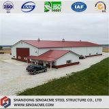 Sinoacme ha prefabbricato la tettoia del gruppo di lavoro dell'azienda agricola della struttura d'acciaio