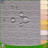 Tissu enduit imperméable à l'eau de rideau en arrêt total de franc de tissu de polyester tissé par textile à la maison pour des rideaux en guichet