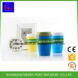 360ml 12oz Plastikkaffeetasse und Becher mit Silikon-Deckel, Kappe