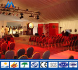 Grande tente extérieure de luxe de chapiteau d'événement avec l'étape de l'usine