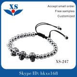 Edelstahl-Schädel-Armband-kundenspezifische Raupe-Armbänder
