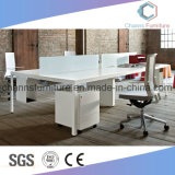 Sitio de trabajo de madera blanco de la oficina del vector de los muebles modernos