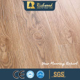Hogar 12.3mm HDF AC3 en relieve Elm Waxed Edge Laminate Flooring