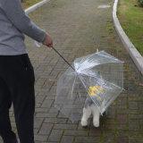 De regendichte Mini Transparante Paraplu van de Hond van het Huisdier met Ketting
