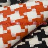 Tecido de poliéster tecido tingidos de raiom de estrutura química Tecidos de malha vestido de mulher para lubrificar as crianças Vestuário Têxtil Inicial