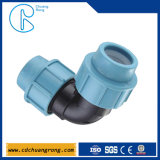 Pp.-Wasser-Rohr-Komprimierung, die den 90 Grad-Krümmer befestigt