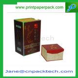 Kundenspezifischer überzogenes Papier-Satin-Innenschmucksache-Luxuxwein-verpackenmagnet-Geschenk-Kasten