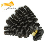 加工されていなく自然な毛のイギリス波状のRemyの毛の拡張