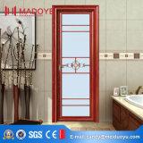 Foshan wc aluminio vidrio esmerilado puerta