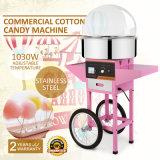 カートおよびカバーが付いている商業電気綿菓子機械
