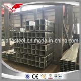 A tubulação galvanizada do ferro galvanizou tubulação quadrada a tubulação retangular galvanizada para a construção de aço