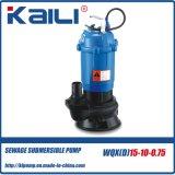 Efluente eléctrico WQXD WQX bomba submersível para locais de construção(1,5-7,5HP)