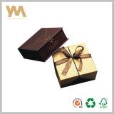 Подгонянная коробка коробки ювелирных изделий коробки золота коробки упаковки подарка бумажная