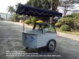 Итальянский нажим мороженного Gelato Carts замораживатели с колесами для сбывания