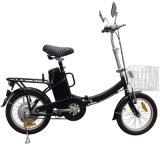Bicicleta dobrável de luz com a cesta e farol de LED (FB-006)
