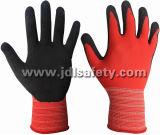 Дышащий работы перчатки из латекса песчаного покрытия (LRS3012)