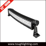 30 인치 180W는 구부려진 백색 LED 차량 지붕 표시등 막대 판매를 위한 줄에 의하여 이중으로 한다