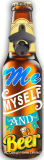 標準的な冷えたビールは形の金属および木のペーパーステッカーの栓抜きをカスタム設計する