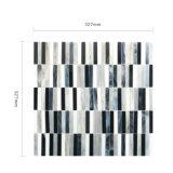 Mosaico Mixed bianco e nero classico di vetro macchiato