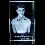 Cristal 3D Audrey Hepburn