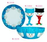 L'artisanat / Fête de Noël cadeaux de fournitures / Vaisselle - Bonhomme de neige Gift Set (WL7413B)
