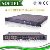 Unterstützungs-Kamerad, NTSC Ableiter-Signal MPEG-2 4 in 1 Ableiter-Kodierer mit IP-Ausgabe