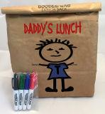 Sacco di carta della carta kraft del pranzo del sacchetto dell'alimento di memoria durevole perfetta dello spuntino