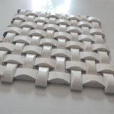 плитка мозаики мрамора цвета картины 3D Basketweave бежевая