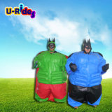 Надувные спортивные игры Bat Man костюмы сумо вольной борьбе сумо из пеноматериала костюмы сумо с мягкими вставками