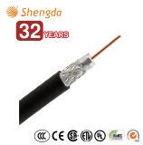 Câble coaxial de liaison d'écran protecteur de la quarte RG6