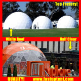 Nouveau design blanc 10m de diamètre dôme géodésique tente pour la restauration