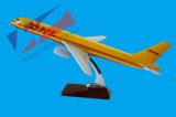 B757 Escala de poliresina DHL modelo de avión